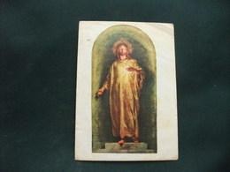 SANTINO HOLY PICTURE IMAGE SAINTE SACRO CUORE DI GESU' PIEGHE - Religione & Esoterismo