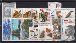 1999 (Czech Republic) Set Of 36 New Stamps MNH, 2 Minisheets - Neufs