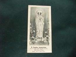 SANTINO HOLY PICTURE IMAGE SAINTE  BEATA VERGINE IMMACCOLATA - Religione & Esoterismo
