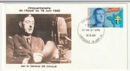 FDC - GABON - 1990 - Général De Gaulle - De Gaulle (General)