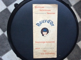 PUBLICITÉ ROUY D'OR  Recettes - Advertising
