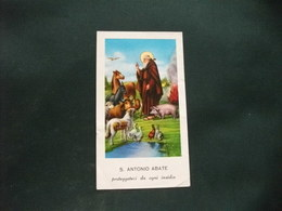 SANTINO HOLY PICTURE IMAGE SAINTE  SANT'ANTONIO ABATE 45 PIEGA CENTRALE ED ALTRE PIEGHE - Religione & Esoterismo