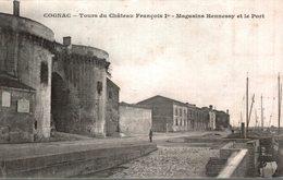 COGNAC  TOURS DU CHATEAU FRANCOIS 1 Er  MAGASINS HENNESSY ET LE PORT - Cognac