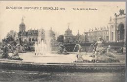 Exposition Universelle De Bruxelles 1910 - Vue Du Jardin De Bruxelles - HP1700 - Mostre Universali