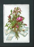 Mignonnette  Porcelaine Avec Collage Et Relief. Vœux De Bonheur Et Prospérité Pour 1881. - Vieux Papiers