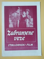 PROG 20 - DONNE PROIBITE - Yugoslavia Program-Publicité,- LINDA DARNELL, Lea Padovani, Valentina Cortese, Anthony Quinn - Riviste