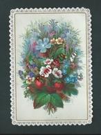 Mignonnette Avec Collage Et Relief. Souvenir De Communion Pour 1879. Deux Mains Entrelacées - Vieux Papiers