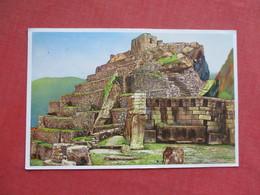Ruins De Machupicehu  Cuzco   Peru Has Stamp & Cancel    Ref 3425 - Peru
