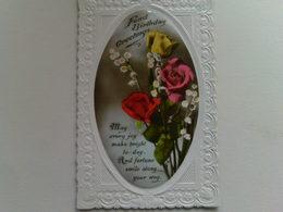 """Birthday  Postcard -  """" Fond Birthday Greetings"""" - Birthday"""