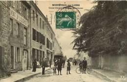 #200619C - 43 MONISTROL SUR LOIRE Grand Chemin Et Bureau Des Voitures - Vélo Liquoriste - MB - Monistrol Sur Loire