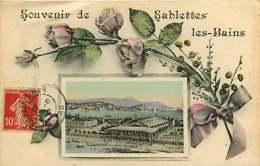 #200619D - 83 SABLETTES LES BAINS Souvenir De - Rose Mimosas - ELD - Francia