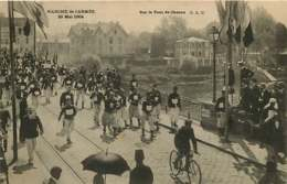#200619E - 78 MARCHE DE L'ARMEE 29 MAI 1904 Sur Le Pont De Chatou - MILITARIA Vélo Pub MAGGI - Chatou