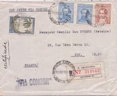 ARGENTINE - LETTRE RECOMMANDÉE BUENOS AIRES POUR PAU FRANCE 1936 VIA CONDOR - Posta Aerea