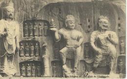 CHINE - CHINA -  HONAN - LUNGMEN Le Boddhisattva Et Les Deux Rois Celestes - Cachet De La Poste 1921 - Chine