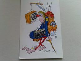 "Kardorama  Postcard -  "" Normal Service ""  Design K 6 - Humour"