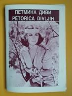 FIVE SAVAGE MEN - Yugoslavia Movie Program-Publicité,-  John Anderson, William Bryant, Michele Carey, - Magazines