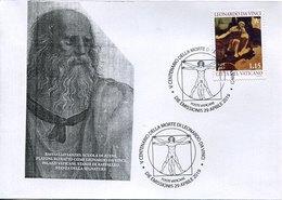 45739 Vaticano, Fdc 2019 Painting Of Leonardo Da Vinci, San Gerolamo, Jerome, Hieronymus, Jerome, - Arts