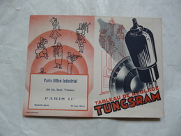 VIEUX PAPIERS 75 PARIS : Tableau De Réglage TUNGSRAM-RADIO - Advertising