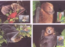 WWF -  VANUATU - 1996 - WWF FRUIT BATS   SET  OF 4 MAXI CARDS, - Maximum Cards