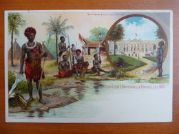 CPA - Exposition Universelle Bruxelles 1897- Tervueren - Palais Des Colonies - Village Africain - Congo - Expositions