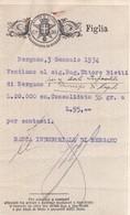 REGNO D'ITALIA CONTRATTI DI BORSA AZIONI DEL 1934 - BERGAMO - BANCA INDUSTRIALE DI BERGAMO - Azioni & Titoli