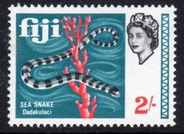 Fiji QEII 1968-9 2/- Sea Snake Definitive, Hinged Mint, SG 381 (BP2) - Fiji (...-1970)