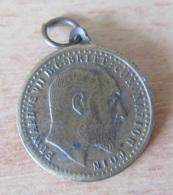Angleterre - Médaille Représentant Un Souverain D'Edward VII 1902 - Diam. 22 Mm - Laiton - Royaux/De Noblesse