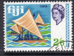 Fiji QEII 1968-9 2/6d Takia Sailing Ship Definitive, Used, SG 382 (BP2) - Fiji (...-1970)