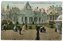 LONDON : FRANCO BRITISH EXHIBITION - LOUIS XV PAVILION, 1908 / POSTMARK - HINDENBOROUGH (DUPLEX) / ADDRESS - MARLOW - Exhibitions