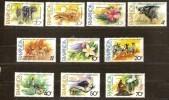 Rwanda Ruanda 1982 OCBn°  1131-40 *** MNH Cote 7,50 Euro Faune - Rwanda