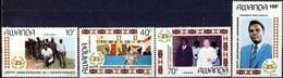 Rwanda Ruanda 1987 OCBn° 1301-1304 *** MNH  Cote 8,50 Euro - Rwanda
