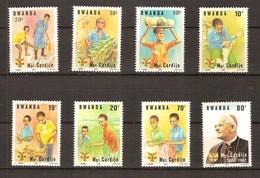 Rwanda Ruanda 1982  OBCn° 1169-1176 *** MNH  Cote 5,50 Euro Cardinal Cardijn - Rwanda