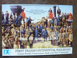 1992   First Transcontinental Railroad ** MNH - Man (Ile De)