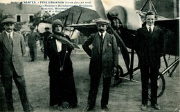 11678 Bis Nantes : Fêtes D'Aviation 27-28 Juillet 1913 - Mme RICHER Aviatrice Et Aviateurs Célébres  TG Plan - Circulée - Piloten