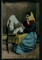 Ref 1309 - Early Ethnic Postcard - Lace Maker Malta - Embroidery Sewing - Europe
