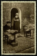 Ref 1309 - Early Ethnic Postcard - Lace Maker Brugge Bruges Belgium - Embroidery Sewing - Europe
