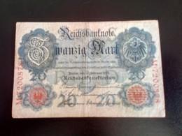 GERMANY ALLEMAGNE DEUTSCHLAND 20 Mark 21.4.1910 - [ 2] 1871-1918 : Empire Allemand