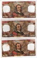 1 Lot De 3 Billets 100francs - 1962-1997 ''Francs''