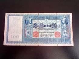 GERMANY ALLEMAGNE DEUTSCHLAND 100 Mark 21.4.1910 - [ 2] 1871-1918 : German Empire