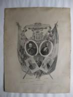 Affiche. Souvenir De Toulon Octobre 1893 France Et Russie. Tsar Alexandre III, Sadi Carnot. - Afiches