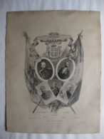 Affiche. Souvenir De Toulon Octobre 1893 France Et Russie. Tsar Alexandre III, Sadi Carnot. - Manifesti