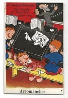 Arromanches (50) Carte A Système 10 Vues (complet) Ah Quelle Rigolade ! Soulevez Le Pupitre Pour Voir !! - Avranches
