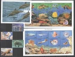 L1047 GAMBIA MARINE LIFE SEA CREATURE #3240-68 MICHEL 24,5 EURO 2SH+BL+SET MNH - Vie Marine