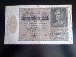 GERMANY ALLEMAGNE DEUTSCHLAND 10000 Mark 1922 - [ 2] 1871-1918 : German Empire
