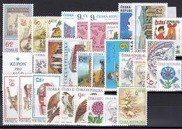 2003 (Czech Republic) Set Of 34 New Stamps MNH, 2 Minisheets - Tchéquie
