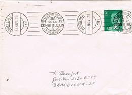 33164. Carta BARCELONA 1978. Referendum Nacional, Dia Constitucion - 1931-Hoy: 2ª República - ... Juan Carlos I