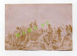 PHOTO ALBUMINE - 06 - COL DE VERROUX - CHANTIER DU SOMMET DU SIRICOCCA MINE LE 8/07/1897 - MILITAIRES DU 3 RI - Guerra, Militari