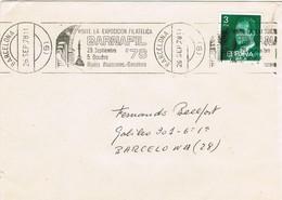 33165. Carta BARCELONA 1978. Rodillo Exposicion Filatelica BARNAFIL 78 - 1931-Hoy: 2ª República - ... Juan Carlos I