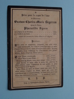 DP Gustave BEGEREM ( Pharaïlde SYOEN ) Ypres 23 Oct 1848 - 24 Aout 1901 ( Zie Foto's ) - Obituary Notices