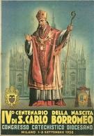 "Milano 1-8 Sett. 1938 ""IV Centenario Nascita S. Carlo Borromeo"", Congres. Eucar. Dioces., Riproduzione A83, Reproduction - Christianisme"